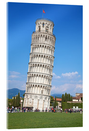 Acrylglas print  Leaning tower of Pisa, Italy