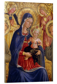 Acrylglas print  Madonna and Child with St. Francis and Bernardine - Bartolomeo Caporali