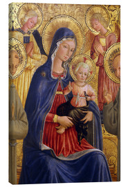 Canvas print  Madonna and Child with St. Francis and Bernardine - Bartolomeo Caporali
