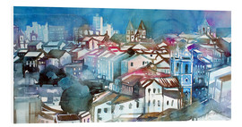 PVC print  Brazil, Salvador Bahia, views of Igreja e Convento do Carmo - Johann Pickl