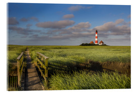 Acrylglas print  Lighthouse in the salt marshes on the North Coast