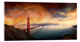 Acrylglas print  Frisco Golden Gate Rainbow - Michael Rucker