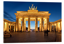 Acrylglas print  Brandenburg gate at dusk