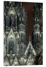 Acrylglas print  Detail of Cologne Cathedral