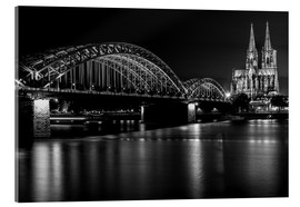 Acrylglas print  Cologne Cathedral and bridge