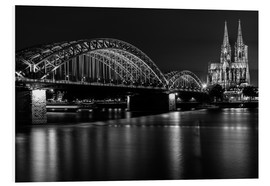 PVC print  Cologne Cathedral and bridge