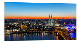 PVC print  Colorful Cologne skyline at night