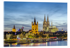 Acrylglas print  Overlooking the historic center of Cologne