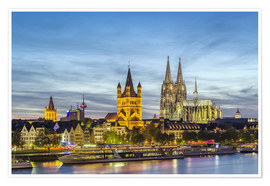 Premium poster  Overlooking the historic center of Cologne