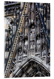 Acrylglas print  Facades detail at Cologne Cathedral