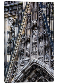 Canvas print  Facades detail at Cologne Cathedral