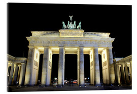 Acrylglas print  Brandenburg Gate in Berlin by night