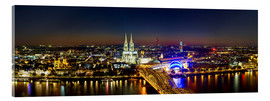 Acrylglas print  A panoramic view of cologne at night