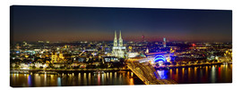 Canvas print  A panoramic view of cologne at night
