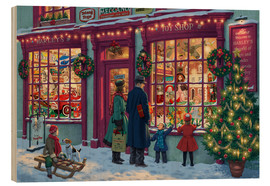 Hout print  Toy Shop at Christmas - Steve Read