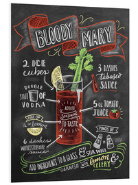 PVC print  Bloody Mary recipe - Lily & Val