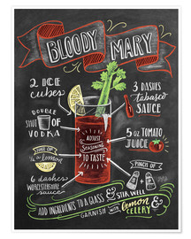 Premium poster  Bloody Mary recipe - Lily & Val