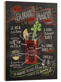 Hout print  Bloody Mary recipe - Lily & Val