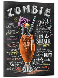 Acrylglas print  Zombie Cocktail recipe - Lily & Val
