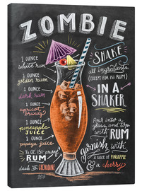 Canvas print  Zombie Cocktail recipe - Lily & Val
