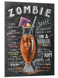 PVC print  Zombie Cocktail recipe - Lily & Val