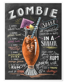 Premium poster  Zombie Cocktail recipe - Lily & Val