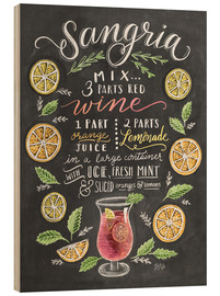 Hout print  Sangria recipe - Lily & Val