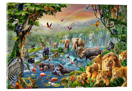 Acrylglas print  Jungle River - Adrian Chesterman