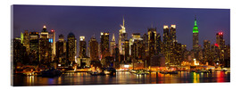 Acrylglas print  Glanzende skyline van New York