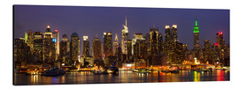 Aluminium print  Glanzende skyline van New York