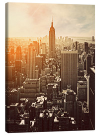 Canvas print  Zonsopkomst in Manhattan, New York