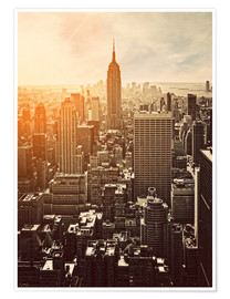 Premium poster  Zonsopkomst in Manhattan, New York