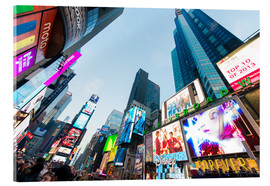 Acrylglas print  Times Square - most popular spot in New York