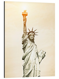 Aluminium print  Liberty Statue in New York, USA