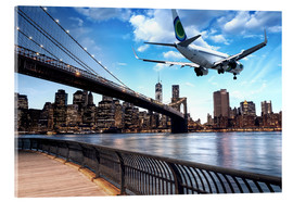 Acrylglas print  Aircraft flying over New York City
