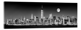 Acrylglas print  Manhattan Skyline at dusk
