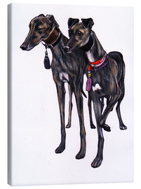 Canvas print  Brindle greyhounds - Jim Griffiths