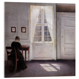 Acrylglas print  Interior with sunlight on the floor - Vilhelm Hammershøi