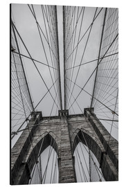 Aluminium print  Brooklyn Bridge in New York