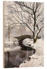 Hout print  Winter in New York