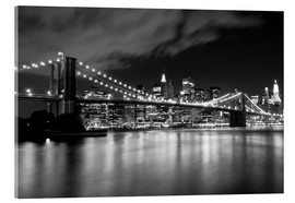Acrylglas print  Brooklyn Bridge - Night scene