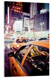 Acrylglas print  Yellow Cabs and city lights