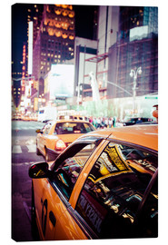 Canvas print  Yellow Cabs and city lights