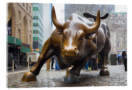 Acrylglas print  Charging Bull Wall Street in Lower Manhattan