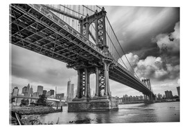 Acrylglas print  The Manhattan Bridge