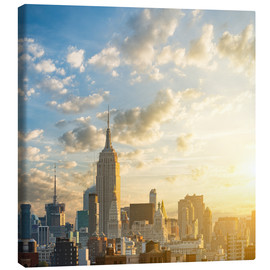 Canvas print  Sunrise in Manhattan, New York
