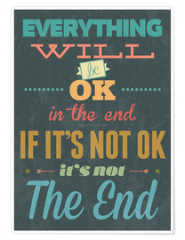 Premium poster Everything will be ok