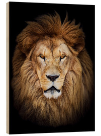 Hout print  King of the Jungle Portrait