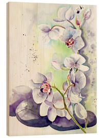 Hout print  orchids - Maria Földy