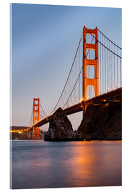 Acrylglas print  ?San Francisco Golden Gate Bridge at sunset